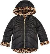 Asstd National Brand Pistachio Reversible Long-Sleeve Faux-Fur Jacket - Toddler Girls 2t-4t