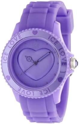 Ice Watch Women's Analogue Quartz Watch with Rubber Strap - LO.LR.U.S.11