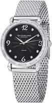 Stuhrling Original Women's 736.02 Audrey Soiree Couture Swiss Quartz Genuine Diamond Dial Mesh Bracelet Watch