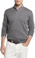Peter Millar Silk-Blend V-Neck Sweater