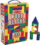 Melissa & Doug Children's 100 Wood Blocks Set