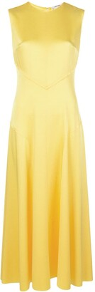 Jason Wu Flared Satin Midi Dress