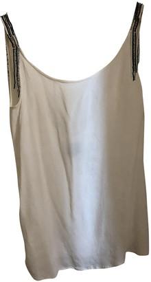 Swildens White Silk Top for Women
