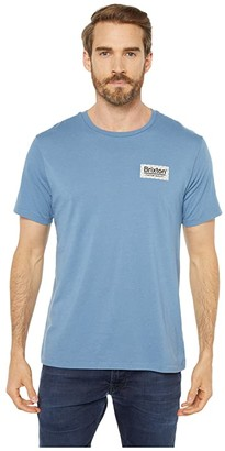 Brixton Palmer Short Sleeve Premium Tee (Slate Blue) Men's T Shirt