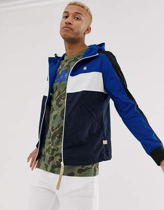G Star G-Star Setscale zip through jacket in blue