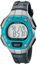 Timex Women's TW5K89300 Ironman Classic 30 Mid-Size Black/Silver-Tone/Blue Resin Strap Watch