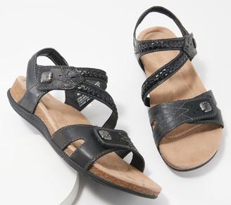 Earth Origins Leather Braided Sandals - Bosk Benson
