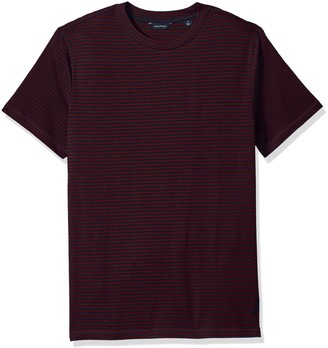Nautica Men's Standard Short Sleeve Slim Fit Striped Crew Neck T-Shirt