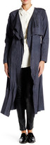 Muu Baa Muubaa Rutland Genuine Suede Collarless Trench Coat