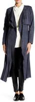Muu Baa Muubaa Rutland Genuine Suede Collarless Trench Coat