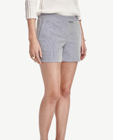 Ann Taylor Petite Seersucker City Shorts