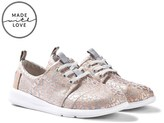 Toms Metallic Cheetah Foil Del Rey Lace Up Trainers
