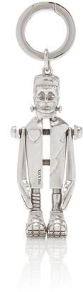 Prada Frankenstein Silver-Tone Keychain