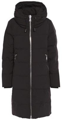 DKNY Quilted Shell Down Hooded Coat