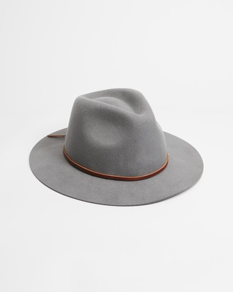 Brixton Grey Hats - Wesley Fedora - Size L at The Iconic