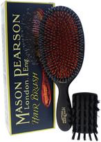 Mason Pearson 2Pc #Bn1 Dark Ruby Large Popular Bristle & Nylon Brush