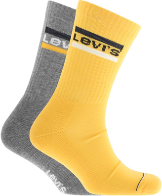 Levi's Levis Regular Cut 2 Pack Socks Yellow