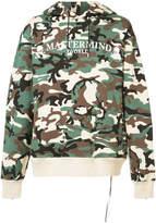 Mastermind Japan camouflage hoodie with skull print
