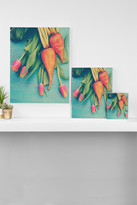 DENY Designs Olivia St Claire The Beat Goes on Yellow Wall Art