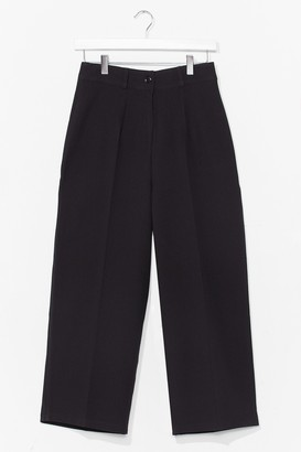 Nasty Gal Womens Nine to Five Cropped Tailored Pants - Black