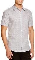 Sovereign Code Fauna Microfloral Short Sleeve Regular Fit Button-Down Shirt