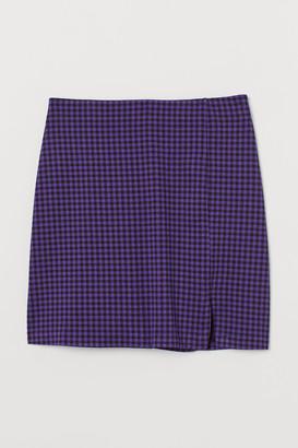 H&M Short Slit-hem Skirt