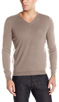 HUGO BOSS BOSS Green Men's C-Callum Merino Extrafine Regular-Fit V-Neck Sweater