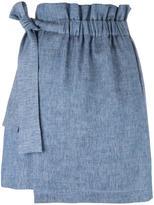MSGM elasticated waistband detail skirt