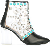 Toga Pulla clear vinyl ankle boots - women - Calf Leather/Leather/Vinyl/rubber - 37