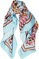 Roberto Cavalli Day Dream printed silk scarf