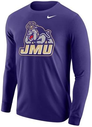 Nike Men's Purple James Madison Dukes Big Logo Performance Long Sleeve T-Shirt