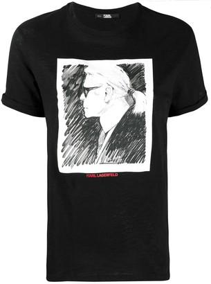 Karl Lagerfeld Paris Legend Profile T-shirt