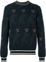 Paul Smith dinosaur intarsia jumper - men - Silk/Wool - M