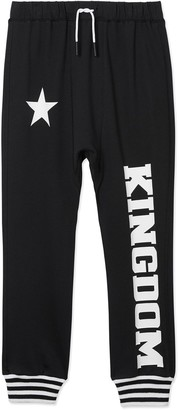 Burberry TEEN kingdom jersey track pants