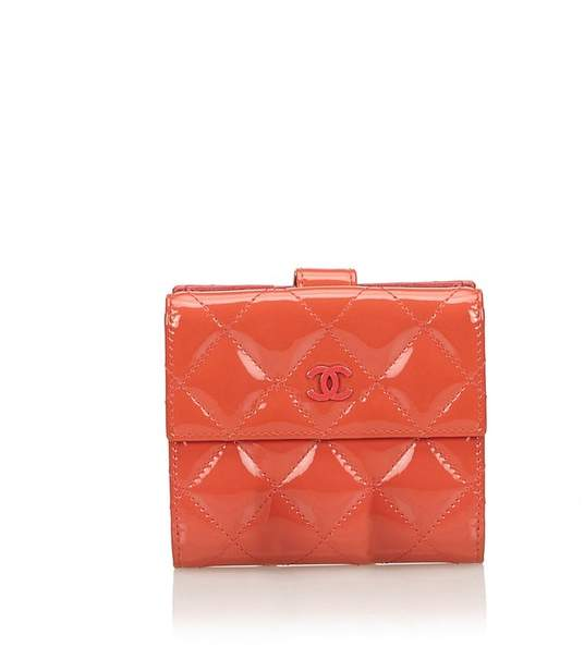Chanel Vintage Matelasse Patent Leather Small Wallet