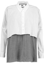 MM6 MAISON MARGIELA Asymmetric Poplin And Cotton-Jersey Top