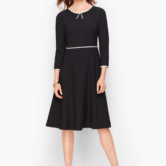 Talbots Tipped Colorblock Fit & Flare Dress