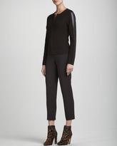 St. John Long-Sleeve Zip Jacket, Mahogany