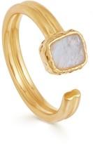 Missoma Rainbow Moonstone Gold Lena Ring