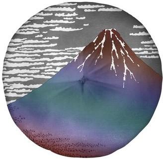 "East Urban Home Katsushika Hokusai Size: 27.5"" x 55.5"", Color: Red/Blue Ombre"