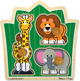 Melissa & Doug Kids Toy, Jungle Friends Jumbo Knob Safari Puzzle