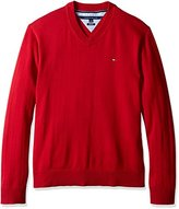 Tommy Hilfiger Men's Big and Tall Signature Solid Vneck Sweater