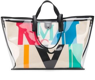 MCM Panneled Shoulder Bag