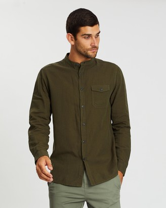 Burton Menswear LS Linen Grandad Shirt