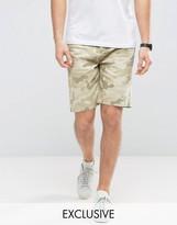 Cayler & Sons Raw Hem Denim Shorts In Camo