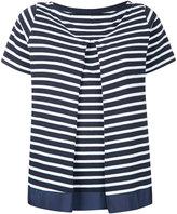 Sacai inverted pleat Breton top - women - Cotton - 3