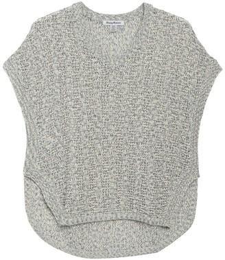 Tommy Bahama Dina Geo V-Neck Cap Sleeve Sweater
