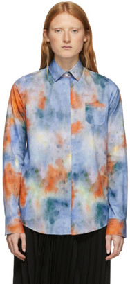 Rokh Multicolor Tie and Dye Mismatch Shirt