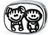 Bling Jewelry 925 Silver Oval Brother Sister Family Bead Fits Pandora