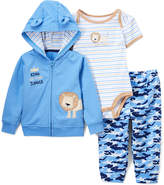 Buster Brown Sesame & Blue Stripe Lion Bodysuit Set - Infant